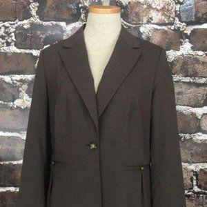 Banana Republic Brown Wool Blazer Jacket Suit Coat